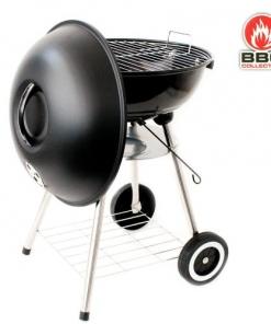 Barbecue a carbonella con coperchio e ruote