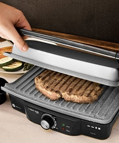 Piastra Per Panini Profess. in Pietra Antiaderente Rock'ngrill 1500w