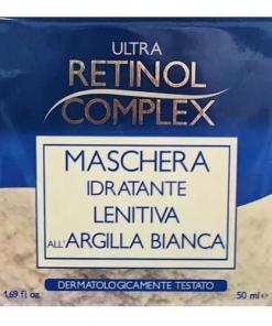 Maschera idratante lenitiva all'argilla bianca made in Italy