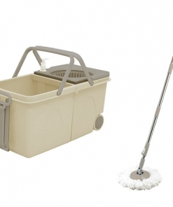 Mocio rotante professionale con 2 vasche 1 per acqua chiara 1 scura